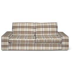 Dekoria Pokrowiec na sofę Kivik 3-osobową, rozkładaną, krata kremowo-beżowa, Sofa Kivik 3-osobowa rozkładana, Edinburgh