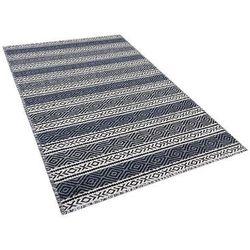 Dywan beżowo-szary bawełniany 80x150 cm patnos marki Beliani
