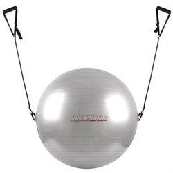 Piłka gimnastyczna z linkami 75cm inSPORTline - Kolor Szary - produkt z kategorii- Piłki i skakanki