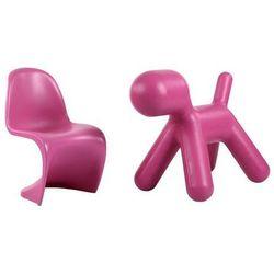 Krzesło dziecięce Balance Junior inspirowane Panton Jr - różowy z kategorii Krzesła i stoliki