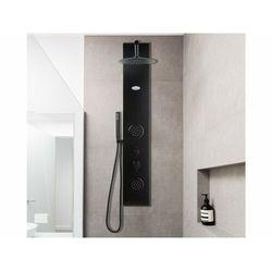 Kolumna prysznicowa z hydromasażem jubida – kolor czarny – 20 × 130 cm marki Vente-unique