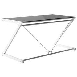 Unique Biurko dd z-line main desk biały stelaż/czarne szkło