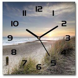 Zegar szklany zachód słońca i wydmy 30x30 zachód słońca i wydmy marki Wallmuralia.pl