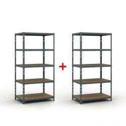 Regał półkowy 1800 x 900 x 600 mm, nośność 175 kg 1+1 gratis marki B2b partner