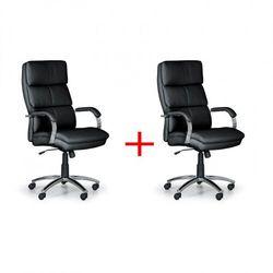 Krzesło biurowe Stairs, czarny 1+1 GRATIS