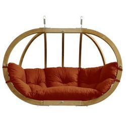 Fotel hamakowy dwuosobowy drewniany, Czerwony Globo Royal Chair Terracotta