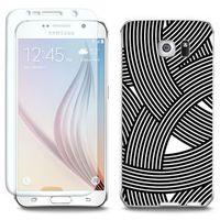Full Body Slim Fantastic - Samsung Galaxy S6 - etui na telefon Full Body Slim Fantastic - biało-czarna mozaik