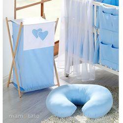 MAMO-TATO Kosz na bieliznę Serduszka w Błękicie z kategorii Kosze na pranie