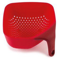 Joseph joseph Mały, kwadratowy durszlak z silikonową rączką jj 40049 czerwony plus (5028420400496)