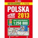 Polska. Auto nawigator 2013. Atlas samochodowy w skali 1:250 000 - Praca zbiorowa, Carta Blanca