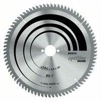 Bosch Tarcza do piły tarczowej optiline wood, 250 x 30 x 3,2 mm, 40, sb3, 2 k&g  2608640643, 1 szt. (3165