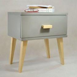 Nowoczesna szafka nocna drewniana savona w kolorze szarym marki Meble magnat