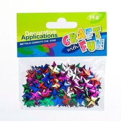 Ozdoby Confetti metaliczne gwiazdki wypukłe z kategorii Pozostałe artykuły szkolne i plastyczne