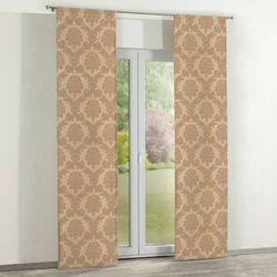 Dekoria zasłony panelowe 2 szt., jasno-brązowy, 60 × 260 cm, damasco