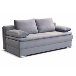 Sofa 2-osobowa SOLOMUN, rozkładana, z tkaniny – kolor jasnoszary