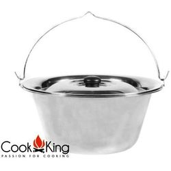 Kociołek węgierski nierdzewny 10l + pokrywka marki Cook&king