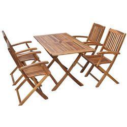 zestaw jadalniany ogrodowy z drewna akacjowego, 5 elementów od producenta Vidaxl