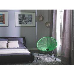 Zestaw 2 krzeseł ogrodowych zielone ACAPULCO
