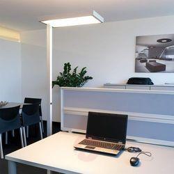 4 x 55 W 2G11 – biurowa lampa stojąca SYSTEM