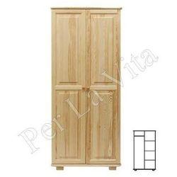 Szafa drewniana D2 Nr2 WIESZAK/PÓŁKI