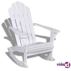 Vidaxl ogrodowy fotel bujany, drewniany, biały