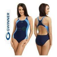 ALINKA strój kąpielowy pływacki granat/niebieski gWINNER + Czepek | WYSYŁKA 24h, kolor niebieski