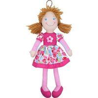 Lalka szmaciana Cornelia 38 cm, brunetka różowa - Beppe (5901703111633)