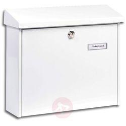 Burgwächter Prosta stalowa skrzynka na listy amsterdam biała (4003482202302)