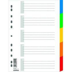 Przekładki , pp, a4, 225x297mm, 5+1 kart, mix kolorów marki Donau