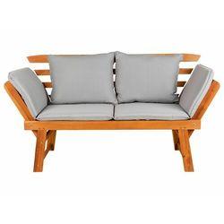 FLORABEST® Ławka drewniana leżanka z poduszkami
