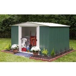 Metalowy domek ogrodowy dresden 3,1 x 3,7 m marki Arrow