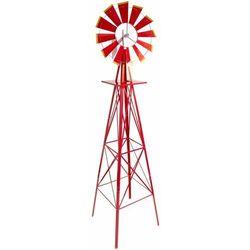 Czerwony wiatrak 245 cm ogrodowy us-style - czerwony marki Mks