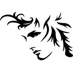 Szablon malarski, wielorazowy, wzór sylwetka 10 - twarz adonisa marki Szabloneria