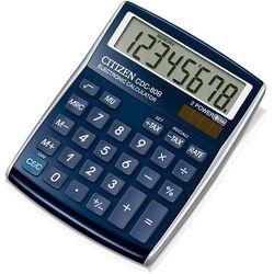 Kalkulator biurowy CITIZEN CDC-80WB, 8-cyfrowy, 135x105mm, niebieski (4562195133070)
