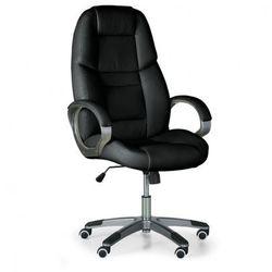 Krzesło biurowe skórzane kevin, czarne marki B2b partner
