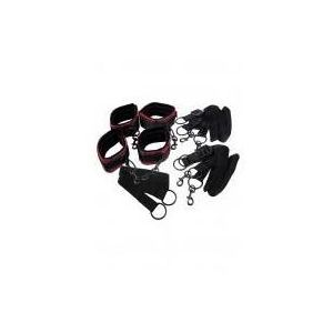Scandal (usa) Scandal bed restraints zestaw do wiązania czarno-czerwony (0716770077073)