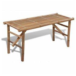 Drewniana ławka ogrodowa Alora - brązowa
