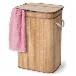 Perel bambusowy kosz na bieliznę ze składaną pokrywą - prostokątny - naturalny (5410329709600)