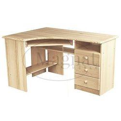 Biurko drewniane narożne cezar marki Magnat - producent mebli drewnianych i materacy