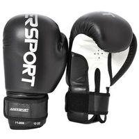 Rękawice bokserskie czarno-białe, marki Axer sport