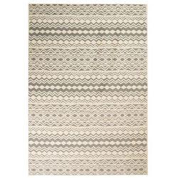 Vidaxl Nowoczesny dywan we wzór tradycyjny, 180x280 cm, beżowo-szary