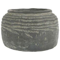 Ib Laursen - Doniczka ręcznie robiona cementowa ze wzorkiem Cleopatra