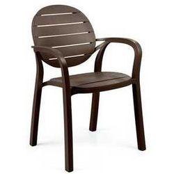 Włoskie krzesło ogrodowe Nardi Palma brązowe z kategorii krzesła ogrodowe