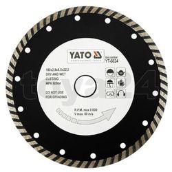 Tarcza diamentowa, segment turbo 180 mm / YT-6024 / YATO - ZYSKAJ RABAT 30 ZŁ