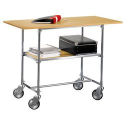Aj Mobilny stolik biurowy w kolorze buk laminat 600x900x820mm