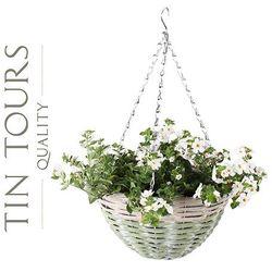 Zwis wiklinowy / kosz wiszący na kwiaty 30x30x16/50 cm marki Tin tours sp.z o.o.