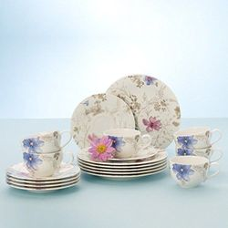 Villeroy & boch mariefleur gris 18el zestaw do kawy, serwis, porcelana premium marki Villeroy&boch