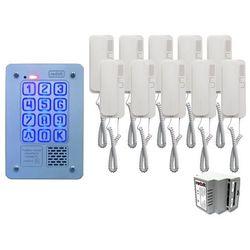 Zestaw 10-rodzinny cyfrowy panel domofonowy kec-4 pt mini gd36 marki Radbit