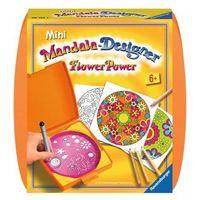 Mini Mandala zestaw do rysowania Kwiaty 297535 - Ravensburger