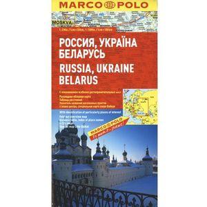 Rosja Ukraina Białoruś mapa samochodowa 1:300 000 (2010)